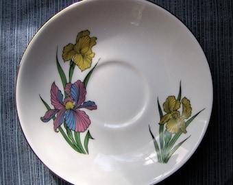 "Staffordshire ""Iris"" Saucer"