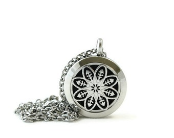 Petite Silver Diffuser Pendant-Stainless Steel-Diffuser Pendent-Free Shipping