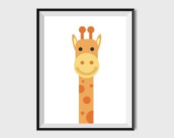 Kids Art Print Animal Nursery Wall Art Nursery Art Print Kids Print Nursery Decor Giraffe Nursery Print Monochrome Nursery Giraffe decor