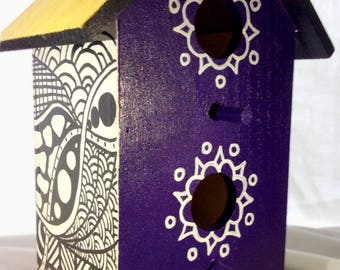 Hand-painted Decorative Birdhouse