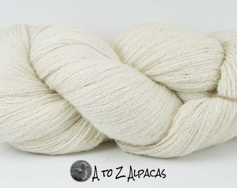 Lace Weight - White - Alpaca Yarn - Made in Canada