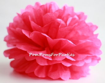 1 High Quality DARK PINK Tissue Pom Pom - Choose any of 50 colours - Hanging  Paper flower - Tissue paper balls - Tissue paper pom poms
