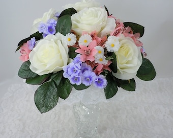 Bridal Bouquet Package, Six Piece Package, Wedding Bouquets, Brides Bouquet, Maid of Honor, Groom's Boutonniere, Bridesmaids