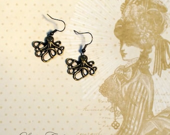 earrings octopus