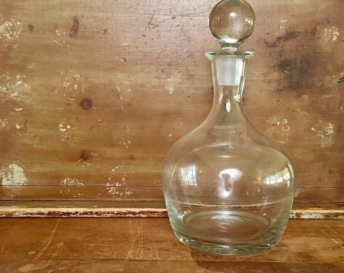 Vintage Glass Decanter Liquor Bottle Barware // Wedding Gift // Anniversary Gift // Stock the Bar Gift