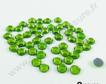 Rhinestone Thermo - Apple green - 2mm - x 200pcs