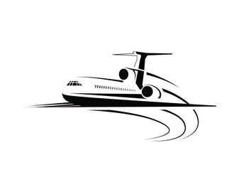 Airplane Airport Runway Airport Taking Off Activity Aerospace Air SVG .EPS .PNG Vector Space Clipart Digital Download Circuit Cut Cutting