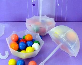 48 Plastic Fill-able Umbrella Favor Holders- Set of 48