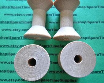 """Wood Spools  - 1-15/16"""" tall x 1-3/8"""" wide w/ 5/16"""" hole - 25 pcs - #SP8300WW25"""