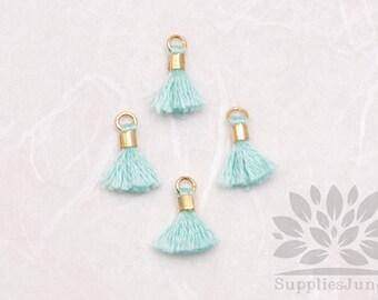 T010-SB// Baby Blue Tiny 10mm Tassel, 6 pcs