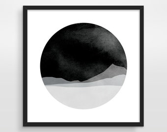 Black and White Large Wall Art, Abstract Art Print, Mid Century Modern Art, Minimalist Art, Black Abstract Art, Limited Edition Print
