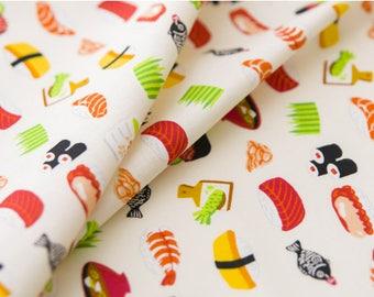Japanese Fabric | Japanese Cotton Fabric | COSMO TEXTILE | Japanese Sushi, soup, white