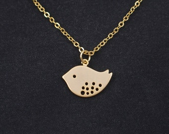 bird necklace, gold filled, gold bird charm, dainty necklace, gold necklace, charm necklace, delicate necklace, bird jewelry, Mother's day