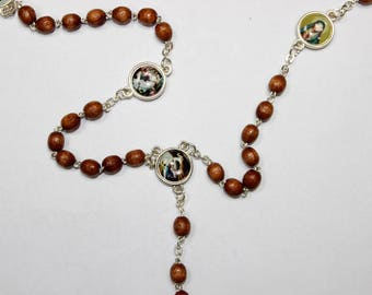 Servite rosary Our Lady of The seven sorrows Wood beads mater dolorosa chaplet of seven sorrrows dolor rosary