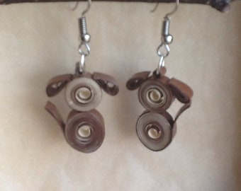 """Dogs"" by quilling earrings"