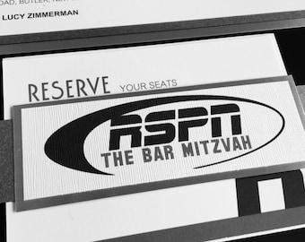 Sports Bar Mitzvah Invitation