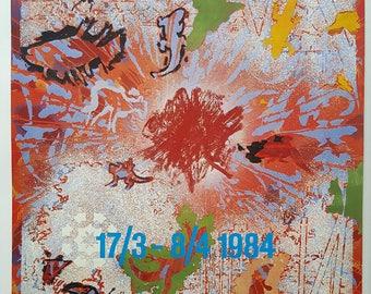 1984 Danish Art Exhibition Poster - Original Vintage Poster