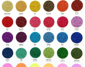 """Siser GLITTER Heat Transfer Vinyl (HTV) 12"""" x 20"""" for Silhouette Cameo, Cricut, and Other Electronic Cutters. 39 colors available!"""