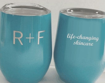 Rodan + Fields Personalize 9oz Wine Tumber, Stainless Steel Wine Tumbler, Promotional Custom Merchandise