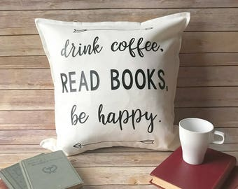 book lover gift, home decor ideas, throw pillow, decorative pillow for couch, book nerd gift, librarian gift, home decor trends