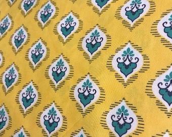 Mustard Yellow and teal macaroon curtain valance