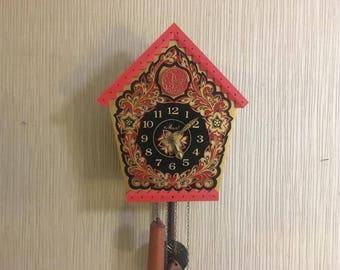 Unique Vintage Soviet Cuckoo Clock   Working Clock