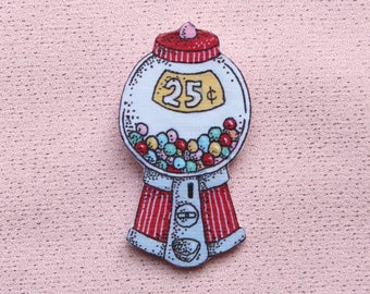 gumball machine brooch (6.2 x 3.3 m)