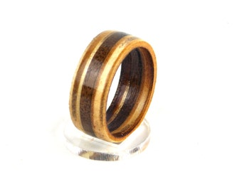Wooden Ring with Birch and Mahogany