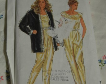 Simplicity 7691 Misses Top Pants and  Jacket Sewing Pattern - UNCUT - Size 8 - 20