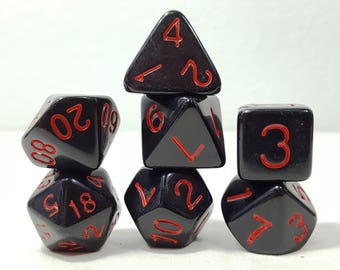 Perfect Plastic Dice - Gloss Polish with Ink - Black / Red Ink