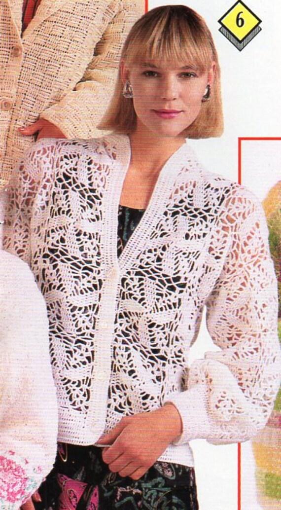 womens crochet cardigan crochet pattern pdf ladies crochet jacket ...
