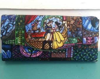 NCW - Women's Wallet - Clutch Wallet - Cell Phone Wallet - Fandom Wallet - Geek Gifts for Girls - Beauty and the Beast Wallet