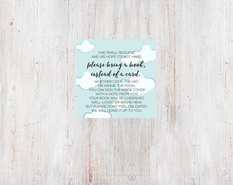 Baby Shower Bring A Book Card Insert - Shower with Love {Download + Print}