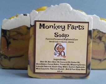 Monkey Farts Soap, Bar Soap, Scented Soap, Kids Soap, Bath Soap, Handmade, Fruity Soap