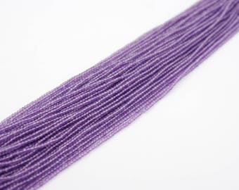 2.5mm Pink Amethyst Faceted Rondelle Beads
