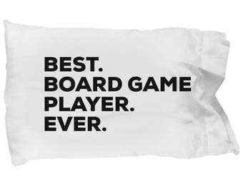 Board Game Player Pillow Case, Gifts For Board Game Player, Best Board Game Player Ever, Board Game Player Pillowcase, Christmas Present,