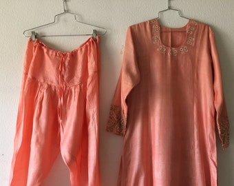 Vintage 2pc Set Pants Dress