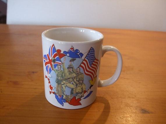 Rare Staffordshire Tableware VE Day \u0026 VJ Day 50th Anniversary mug & Rare Staffordshire Tableware VE Day \u0026 VJ Day 50th Anniversary
