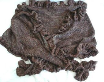 Knitting PATTERN- Shimmery Shawl PDF knitting pattern