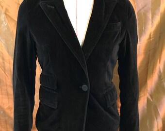 Vintage Black Velveteen DKNY Blazer Jacket