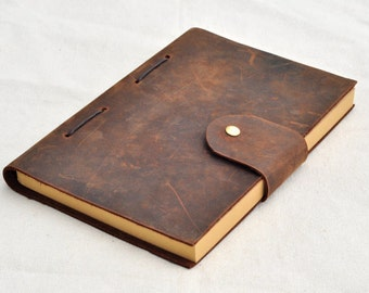 Custom leather journal, explorer journal ,leather travel journal (with free stamp )