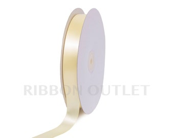 "7/8"" Baby Maize Satin Ribbon 100 Yards Per Roll"
