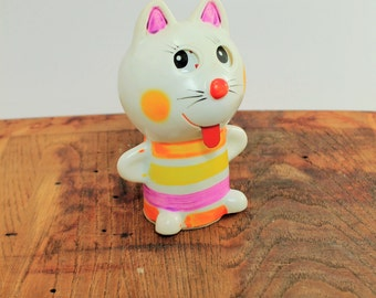S A L E 50% off - Vintage Wind-up Cat, Alps Toys, Cat, Wind-up Toy
