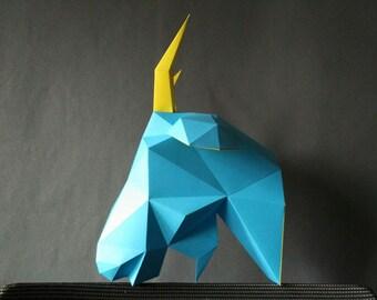 Large Goat DIY kit/Papercraft Goat/3D Template/Goat Model/Goat Sculpture/Animal paper/Goat Trophy/Room Decor/Wall Decor/Goat Head