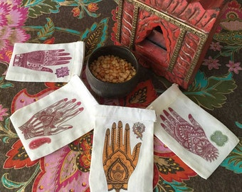 Mehndi Ceremony WEDDING Shower Favor Bags | South Asian Indian Bridal Shower | Muslim Henna Engagement Deluxe Paisley 3x5 4x6 6x8 set/10