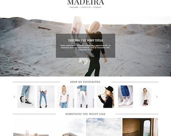 "Blogger Template ""Madeira"" // Responsive Blogspot Premade Blog Theme Design"