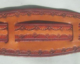 Brown Leather IPod Nano Made in GA USA  Watch Band or Wrist Band Cuff Custom Sized