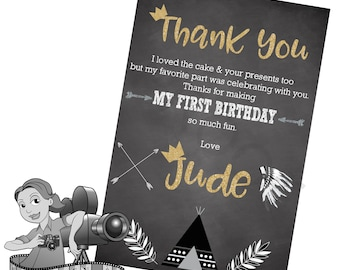 Wild One / Aztec / Tribal Thank You Cards