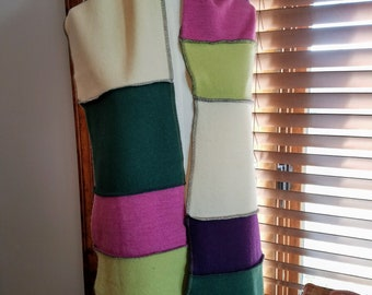 Upcycled Wool Colorblock Scarf