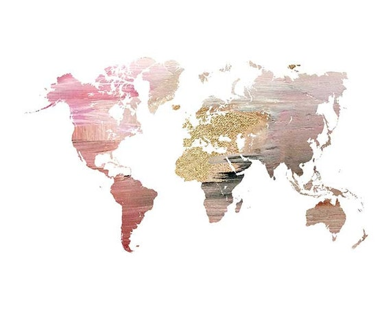 modern map of the world world map map wall poster large